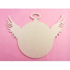 4mm MDF Fob Watch with Wings 280mm